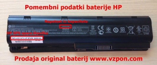 baterija original hp