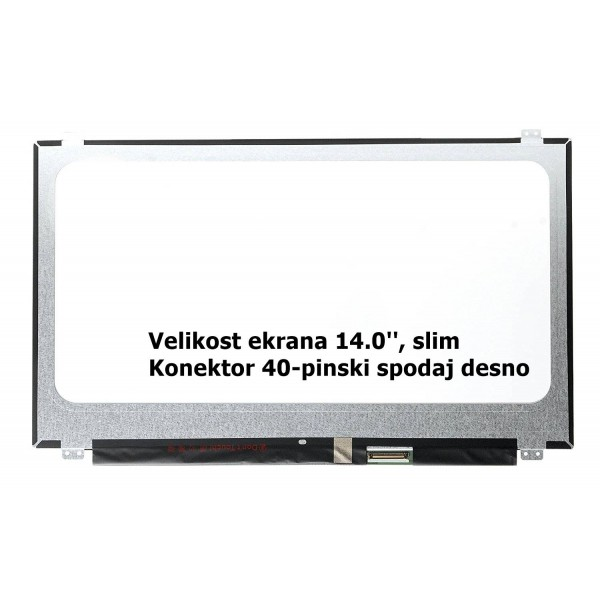 Ekran za prenosnik 14.0'' LED HD+ 40-pin, slim, ma...