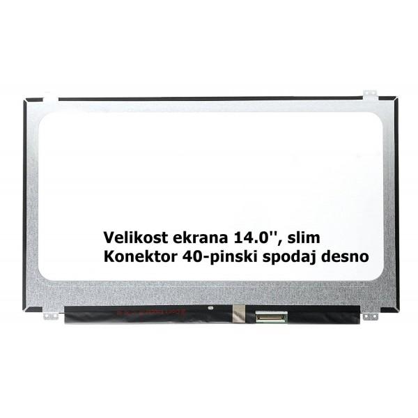 Ekran za prenosnik 14.0'' LED HD 40-pin, slim, mat...