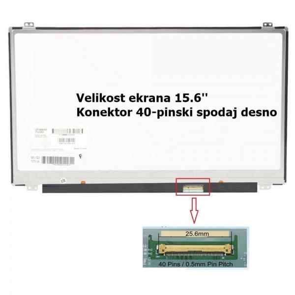 Ekran za prenosnik 15.6'' LED FHD 40-pin, slim, si...