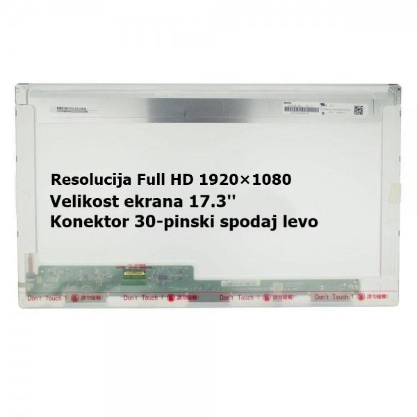 Ekran za prenosnik 17.3'' LED FHD 30-pin, mat, DEL...