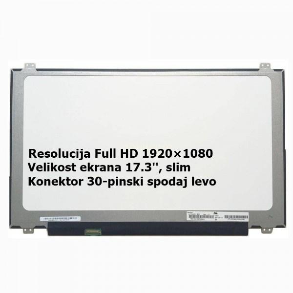 Ekran za prenosnik 17.3'' LED, FULL HD, 30-pin, sl...
