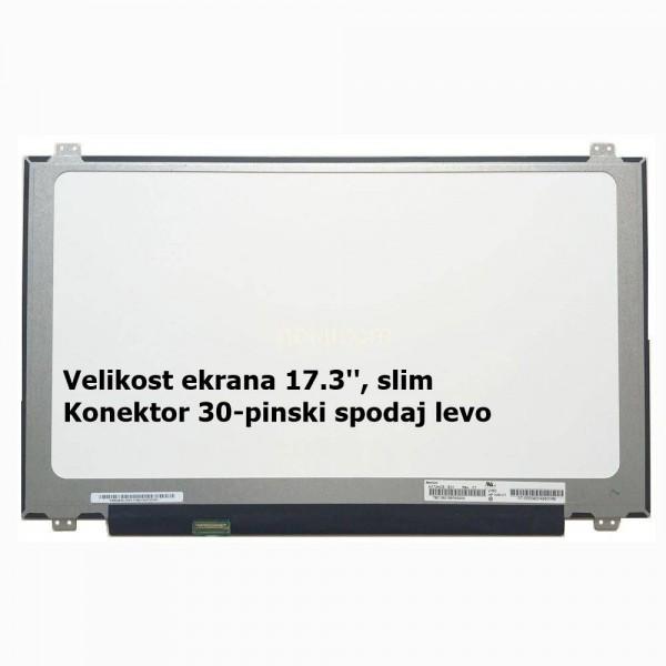 Ekran za prenosnik 17.3'' LED HD+ 30-pin, slim, ma...